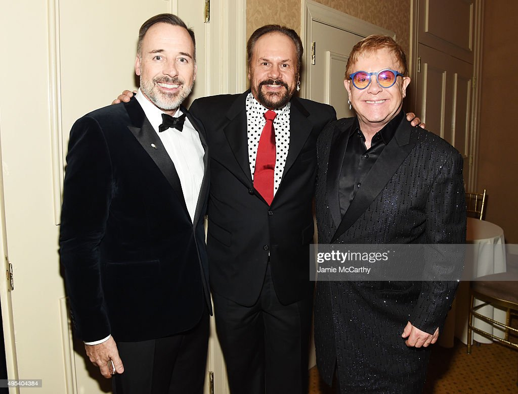 Filmmaker <a gi-track='captionPersonalityLinkClicked' href=/galleries/search?phrase=David+Furnish&family=editorial&specificpeople=220203 ng-click='$event.stopPropagation()'>David Furnish</a>, musician Harry Wayne 'K.C.' Casey, and Sir <a gi-track='captionPersonalityLinkClicked' href=/galleries/search?phrase=Elton+John&family=editorial&specificpeople=171369 ng-click='$event.stopPropagation()'>Elton John</a> attend <a gi-track='captionPersonalityLinkClicked' href=/galleries/search?phrase=Elton+John&family=editorial&specificpeople=171369 ng-click='$event.stopPropagation()'>Elton John</a> AIDS Foundation's 14th Annual An Enduring Vision Benefit at Cipriani Wall Street on November 2, 2015 in New York City.