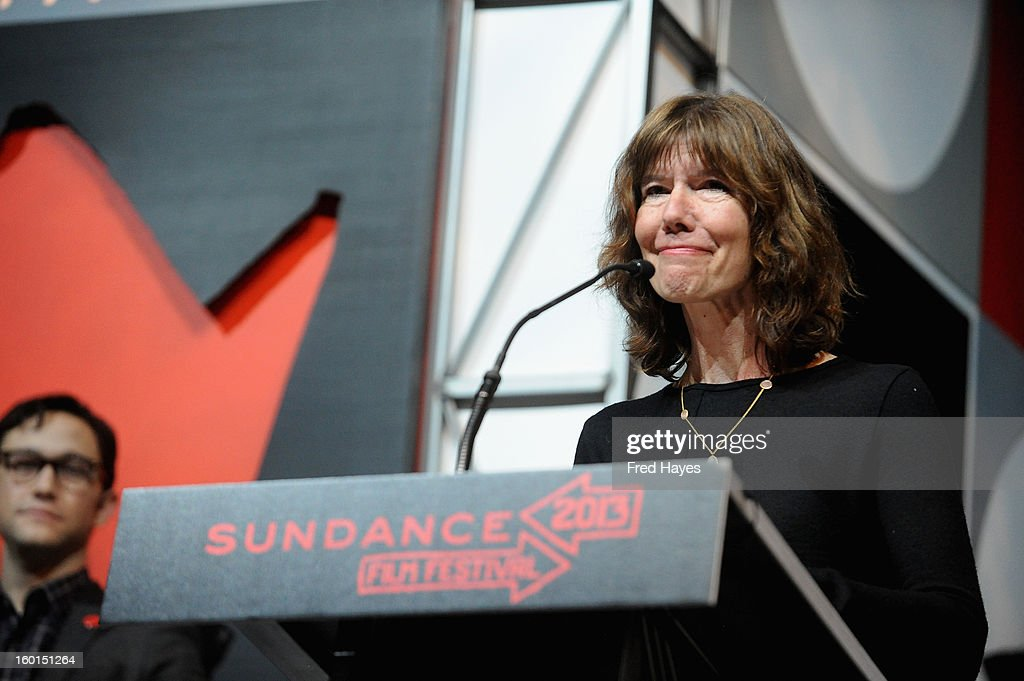 Filmmaker Diane Weyermann speaks onstage at the Awards Night Ceremony during the 2013 Sundance Film Festival at Basin Recreation Field House on January 26, 2013 in Park City, Utah.