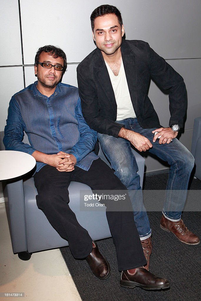 Filmmaker Dibakar Banerjee (L) and Actor <a gi-track='captionPersonalityLinkClicked' href=/galleries/search?phrase=Abhay+Deol&family=editorial&specificpeople=5377911 ng-click='$event.stopPropagation()'>Abhay Deol</a> attends at 'Shanghi' premiere during the 2012 Toronto International Film Festival at TIFF Bell Lightbox on September 7, 2012 in Toronto, Canada.