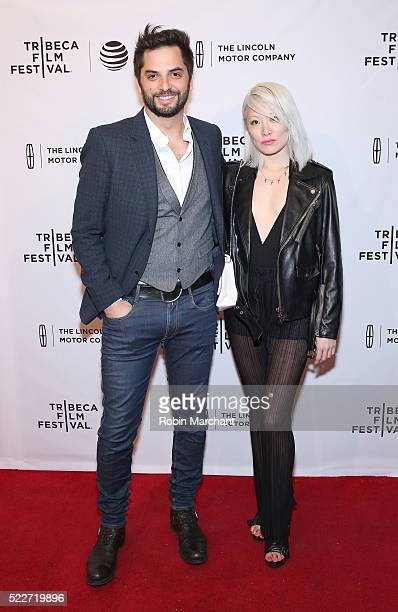 Filmmaker Diego Bunuel and Maggie Kim attend 'Reset' Premiere 2016 Tribeca Film Festival at SVA Theatre 1 on April 20 2016 in New York City