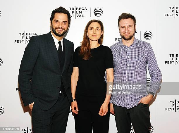 Filmmaker Diego Bunuel Cosima Spender and David Gelb attend TFF Awards Night during the 2015 Tribeca Film Festival at Spring Studio on April 23 2015...
