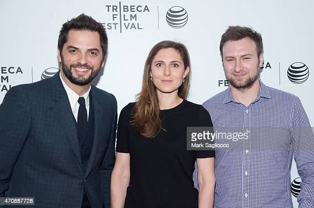 Filmmaker Diego Bunuel Cosima Spender and David Gelb attend the 2015 Tribeca Film Festival Awards Night at the Spring Studios on April 23 2015 in New...