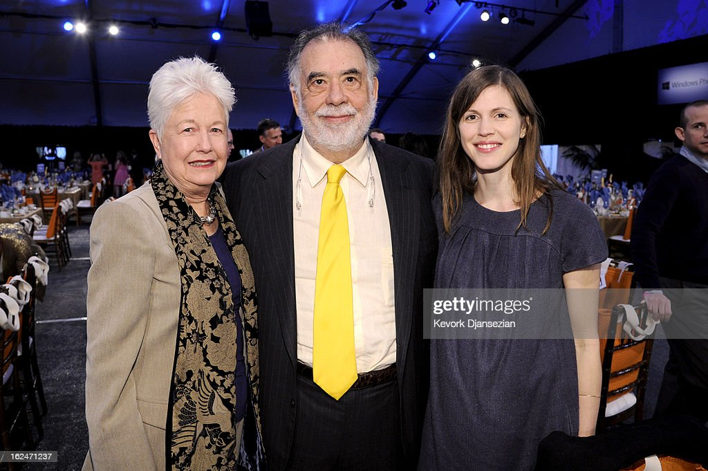 Filmmaker Eleanor Coppola, filmmaker <a gi-track='captionPersonalityLinkClicked' href=/galleries/search?phrase=Francis+Ford+Coppola&family=editorial&specificpeople=204241 ng-click='$event.stopPropagation()'>Francis Ford Coppola</a> and and Jennifer Furches attend the 2013 Film Independent Spirit Awards at Santa Monica Beach on February 23, 2013 in Santa Monica, California.