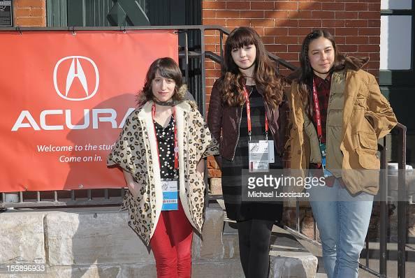 Filmmaker Eliza Hittman actress Gina Piersanti and Producer Mariko Munro attend the Acura Master Class Emerging Women in Independent Film on January...