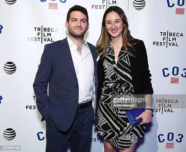 Filmmaker Evan Ari Kelman and Parker Hill attend the 2016 Tribeca Film Festival New York Filmmakers Party at Spring Studios on April 12 2016 in New...