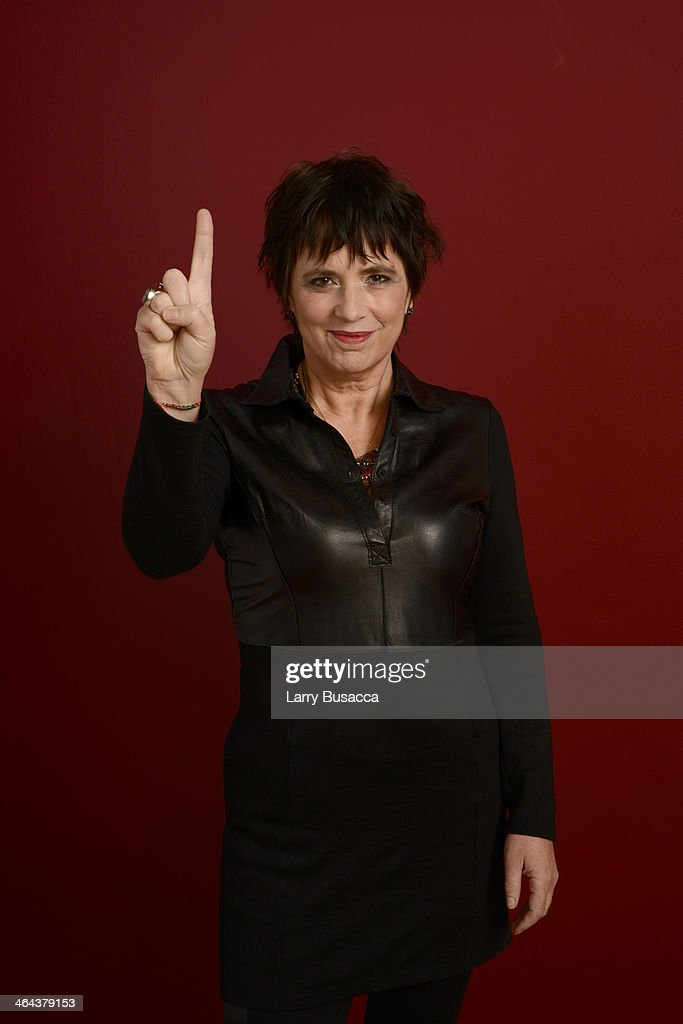 Filmmaker <a gi-track='captionPersonalityLinkClicked' href=/galleries/search?phrase=Eve+Ensler&family=editorial&specificpeople=203150 ng-click='$event.stopPropagation()'>Eve Ensler</a> poses for a portrait during the 2014 Sundance Film Festival at the Getty Images Portrait Studio at the Village At The Lift Presented By McDonald's McCafe on January 22, 2014 in Park City, Utah.
