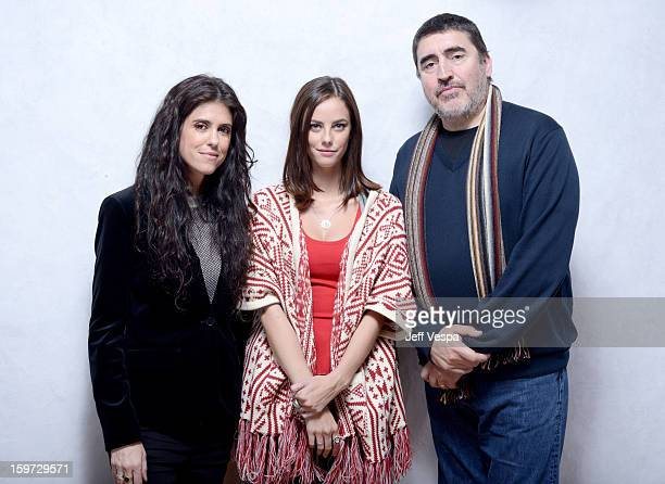 Filmmaker Francesca Gregorini actors Kaya Scodelario and Alfred Molina pose for a portrait during the 2013 Sundance Film Festival at the WireImage...