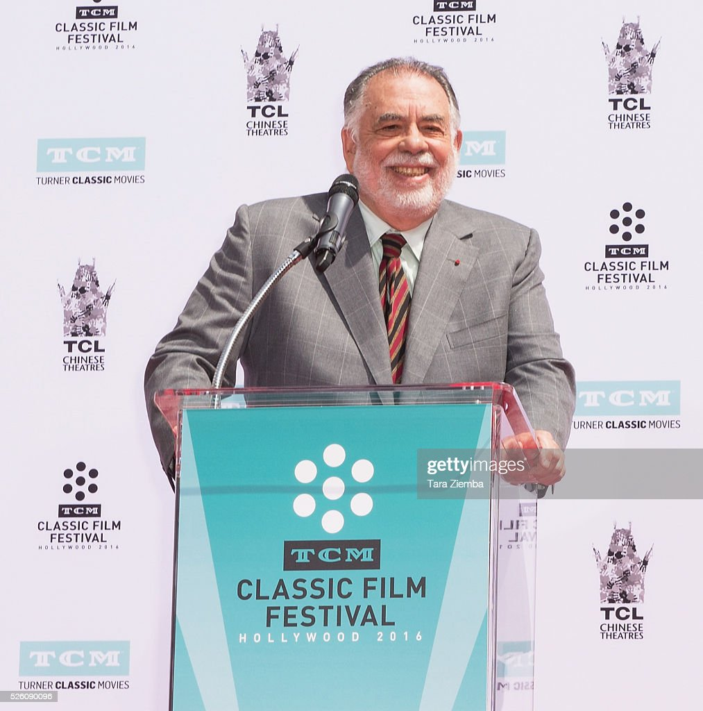Filmmaker <a gi-track='captionPersonalityLinkClicked' href=/galleries/search?phrase=Francis+Ford+Coppola&family=editorial&specificpeople=204241 ng-click='$event.stopPropagation()'>Francis Ford Coppola</a> is honored by TCM with a Hand/Footprint Ceremony at TCL Chinese Theatre IMAX on April 29, 2016 in Hollywood, California.