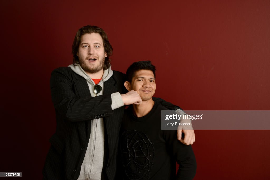 Filmmaker Gareth Evans (L) and actor Iko Uwais pose for a portrait during the 2014 Sundance Film Festival at the Getty Images Portrait Studio at the Village At The Lift Presented By McDonald's McCafe on January 22, 2014 in Park City, Utah.