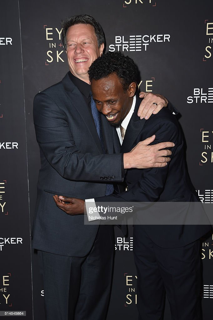 Filmmaker Gavin Hood and actor Barkhad Abdi attend the 'Eye In The Sky' New York Premiere at AMC Loews Lincoln Square 13 theater on March 9, 2016 in New York City.