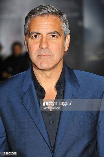 Filmmaker George Clooney attends 'The Ides of March' premiere during the 55th BFI London Film Festival at Odeon West End on October 19 2011 in London...