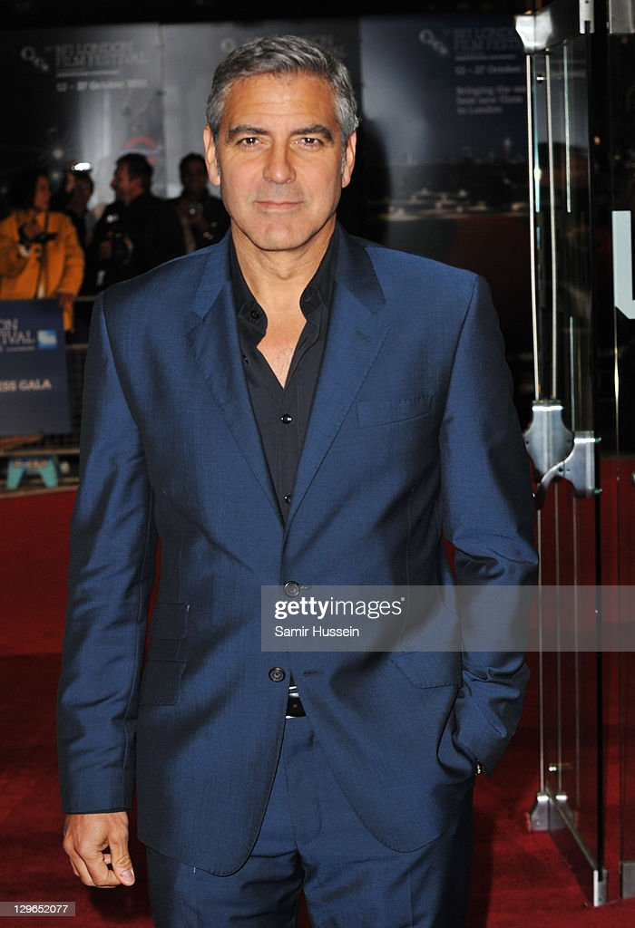 Filmmaker <a gi-track='captionPersonalityLinkClicked' href=/galleries/search?phrase=George+Clooney&family=editorial&specificpeople=202529 ng-click='$event.stopPropagation()'>George Clooney</a> attends 'The Ides of March' premiere during the 55th BFI London Film Festival at Odeon West End on October 19, 2011 in London, England.
