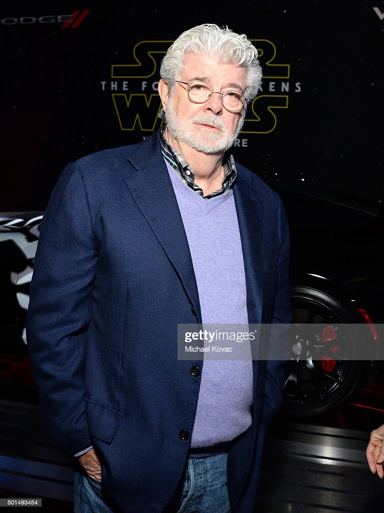 Filmmaker George Lucas attends the premiere of Walt Disney Pictures and Lucasfilm's 'Star Wars: The Force Awakens', sponsored by Dodge, at the Dolby Theatre, TCL Chinese Theatre and El Capitan Theatre on December 14, 2015 in Hollywood, California.