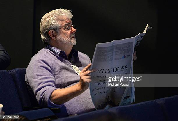 Filmmaker George Lucas attends the Vanity Fair New Establishment Summit at Yerba Buena Center for the Arts on October 6 2015 in San Francisco...