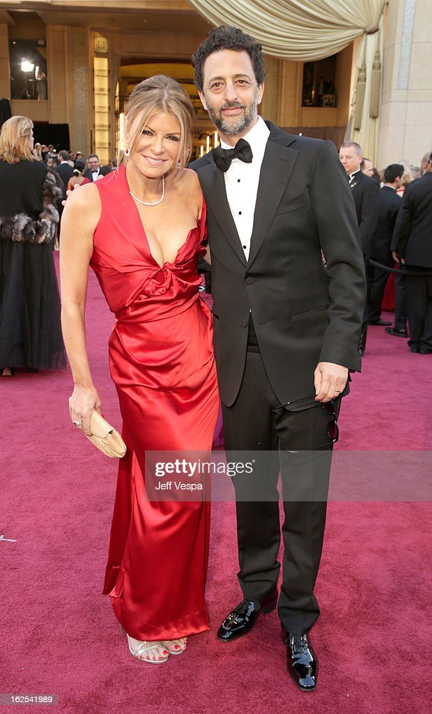 Filmmaker Grant Heslov and Lisa Heslov arrive at the Oscars at Hollywood Highland Center on February 24 2013 in Hollywood California