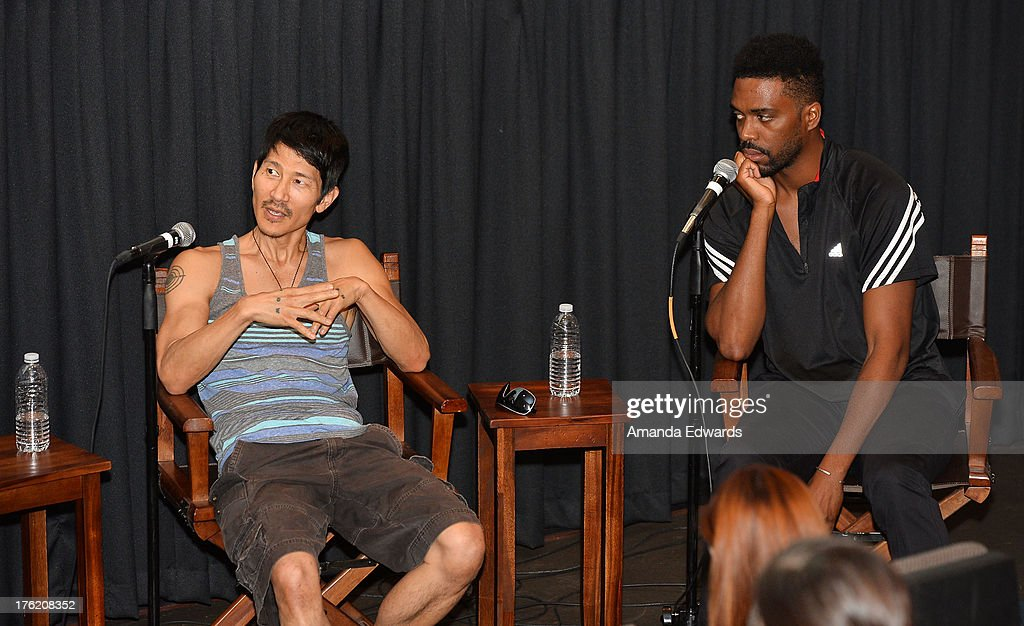 Filmmaker <a gi-track='captionPersonalityLinkClicked' href=/galleries/search?phrase=Gregg+Araki&family=editorial&specificpeople=213371 ng-click='$event.stopPropagation()'>Gregg Araki</a> (L) and director Shaka King attend the NEXT WEEKEND Presented By Sundance Institute -