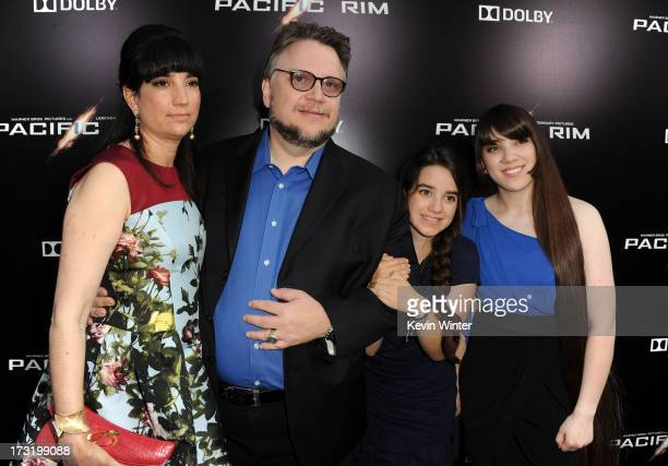 Filmmaker Guillermo del Toro and Lorenza Newton with children arrive at the premiere of Warner Bros Pictures' and Legendary Pictures' 'Pacific Rim'...