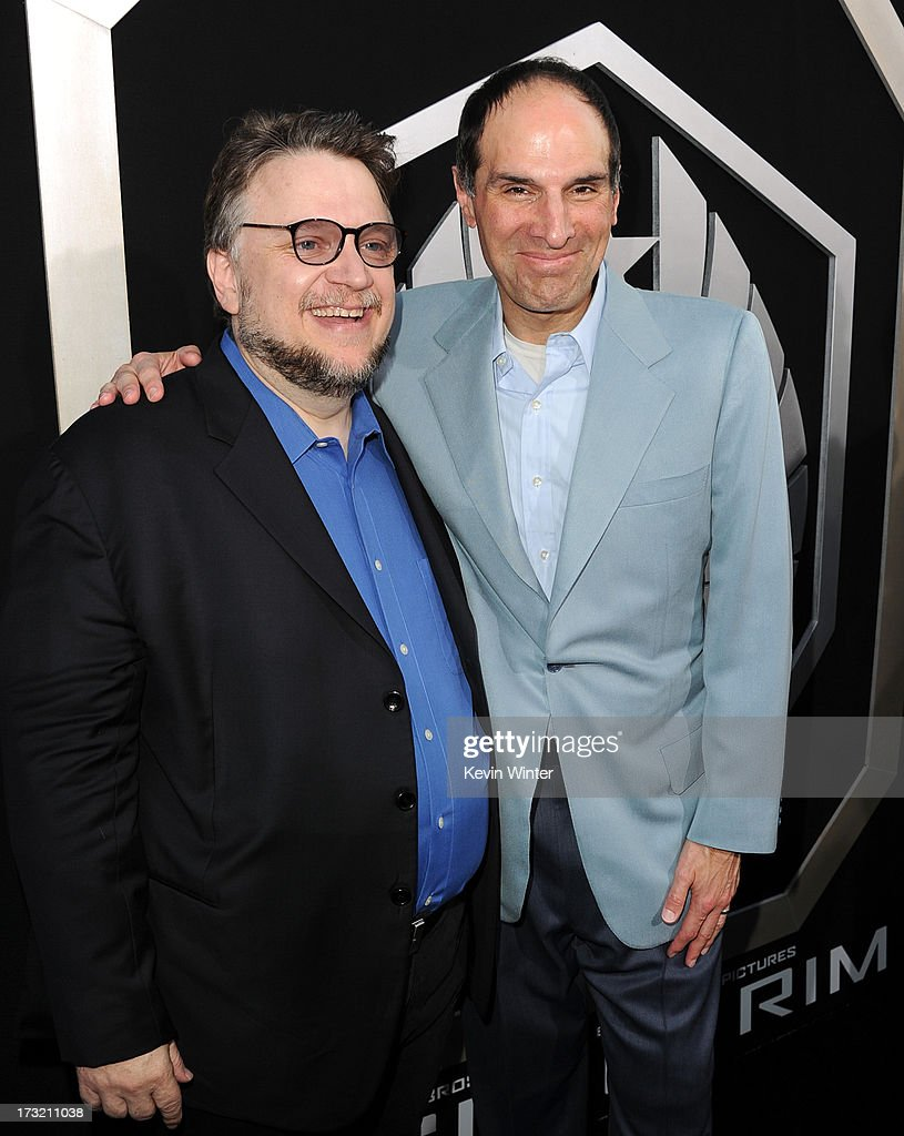 Filmmaker Guillermo del Toro (L) and President and Chief Creative Officer of Legendary Entertainment Jon Jashni arrive at the premiere of Warner Bros. Pictures' and Legendary Pictures' 'Pacific Rim' at Dolby Theatre on July 9, 2013 in Hollywood, California.