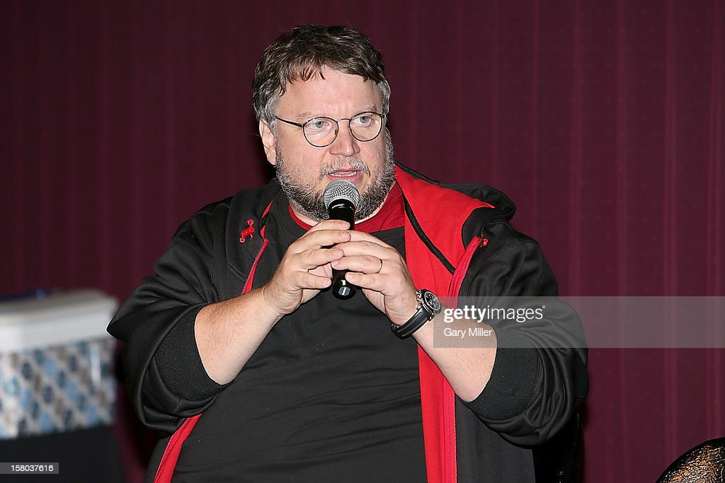 Filmmaker Guillermo Del Toro speaks after a screening of the new film 'Mama' during Ain't It Cool News's Butt-Numb-A-Thon 14 at the Alamo Drafthouse on December 8, 2012 in Austin, Texas.