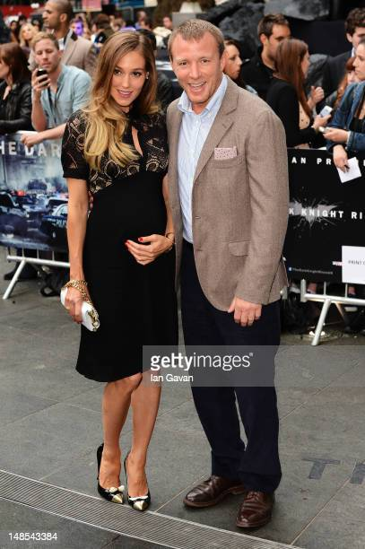 Filmmaker Guy Richie and Jacqui Ainsley attend the European premiere of 'The Dark Knight Rises' at Odeon Leicester Square on July 18 2012 in London...