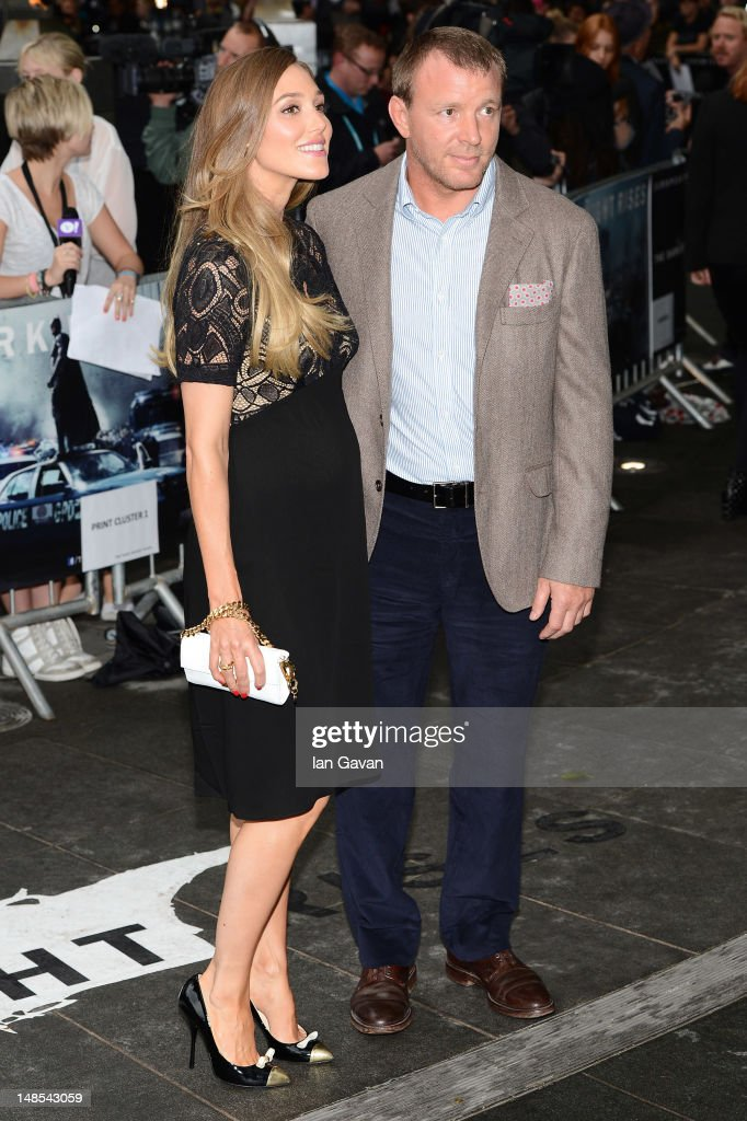 Filmmaker Guy Richie and<a gi-track='captionPersonalityLinkClicked' href=/galleries/search?phrase=Jacqui+Ainsley&family=editorial&specificpeople=209223 ng-click='$event.stopPropagation()'>Jacqui Ainsley</a> attend the European premiere of 'The Dark Knight Rises' at Odeon Leicester Square on July 18, 2012 in London, England.