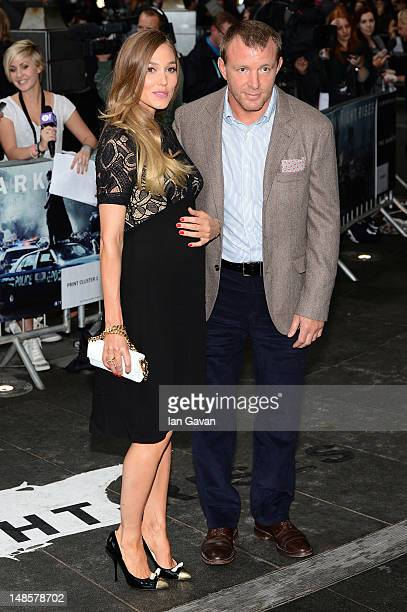 Filmmaker Guy Richie andJacqui Ainsley attend the European premiere of 'The Dark Knight Rises' at Odeon Leicester Square on July 18 2012 in London...