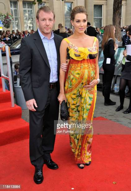 Filmmaker Guy Ritchie and Jacqui Ainsley attend the 'Harry Potter And The Deathly Hallows Part 2' world premiere at Trafalgar Square on July 7 2011...