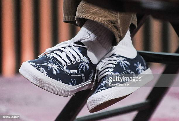 Filmmaker Guy Ritchie sneakers detail attends AOL Build to discuss his new film 'Man from UNCLE' at AOL Studios on August 11 2015 in New York City