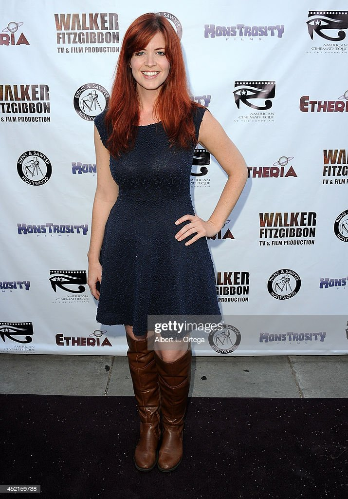 Filmmaker Heidi Cox arrives for the 2014 Etheria Film Night held at American Cinematheque's Egyptian Theatre on July 12, 2014 in Hollywood, California.
