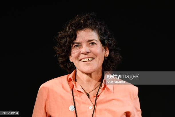 Filmmaker Jacki Nunez appears for Q and A following the screening of Straws at the Santa Cruz Film Festival at the Tannery Arts Center on October 13...