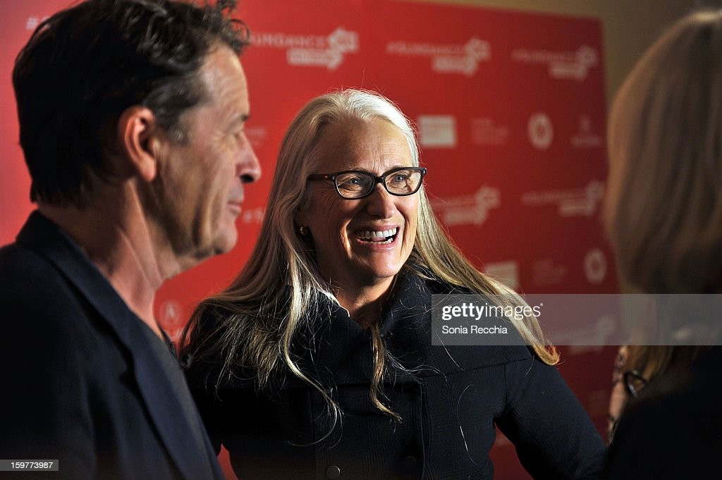 Filmmaker <a gi-track='captionPersonalityLinkClicked' href=/galleries/search?phrase=Jane+Campion&family=editorial&specificpeople=616530 ng-click='$event.stopPropagation()'>Jane Campion</a> (C) attends the 'Top Of The Lake' premiere at Egyptian Theatre during the 2013 Sundance Film Festival on January 20, 2013 in Park City, Utah.