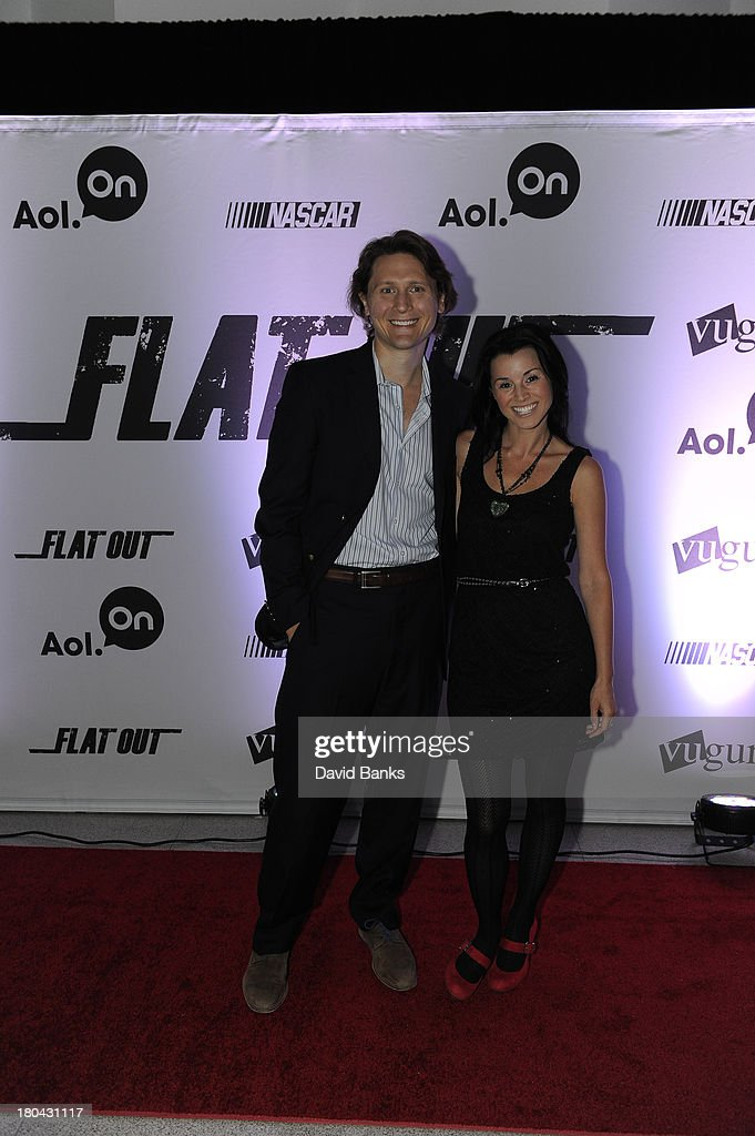 Filmmaker Jeff Cvitkovic with his wife Malinda at the screening of Flat Out on September 12, 2013 in Chicago, Illinois.
