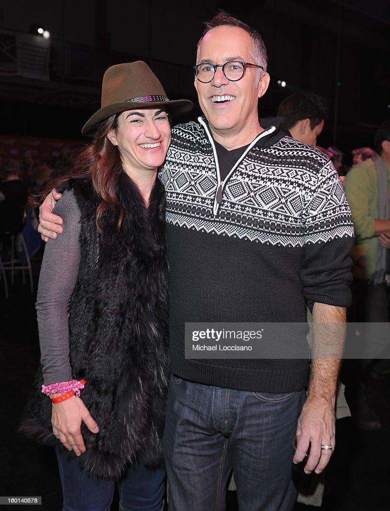Filmmaker Jehane Noujaim and Director of the Sundance Film Festival John Cooper attend the Awards Night Party during the 2013 Sundance Film Festival at Basin Recreation Field House on January 26, 2013 in Park City, Utah.