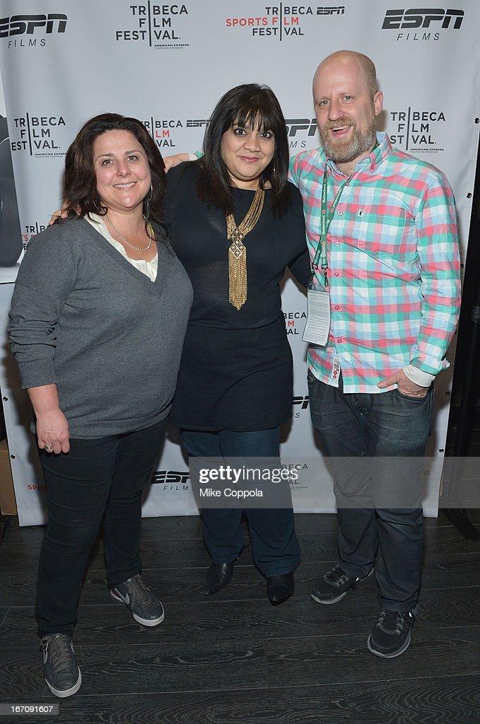 Filmmaker Jennifer Arnold, filmmaker Senain Kheshgi, and producer Sandi DuBowski attend the ESPN Sports Film Festival Gala: 'Big Shot' after party during the 2013 Tribeca Film Festival on April 19, 2013 in New York City.