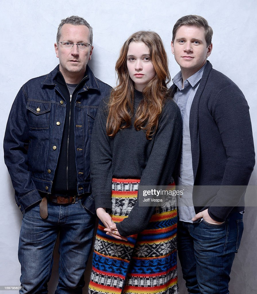 Filmmaker Jeremy Lovering, actors <a gi-track='captionPersonalityLinkClicked' href=/galleries/search?phrase=Alice+Englert&family=editorial&specificpeople=616562 ng-click='$event.stopPropagation()'>Alice Englert</a>, and <a gi-track='captionPersonalityLinkClicked' href=/galleries/search?phrase=Allen+Leech&family=editorial&specificpeople=2167022 ng-click='$event.stopPropagation()'>Allen Leech</a> pose for a portrait during the 2013 Sundance Film Festival at the WireImage Portrait Studio at Village At The Lift on January 20, 2013 in Park City, Utah.