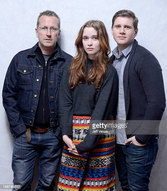 Filmmaker Jeremy Lovering actors Alice Englert and Allen Leech pose for a portrait during the 2013 Sundance Film Festival at the WireImage Portrait...