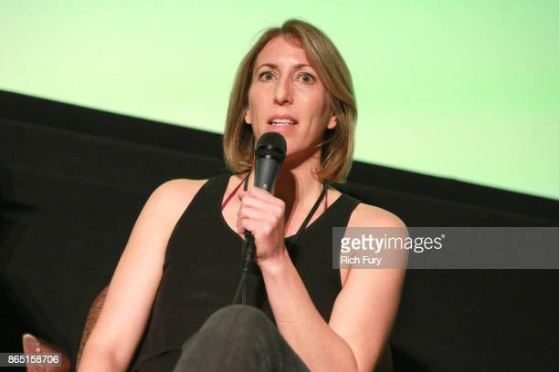 Filmmaker Jessica Kantor speaks on stage during day 3 of the Film Independent Forum at DGA Theater on October 22 2017 in Los Angeles California