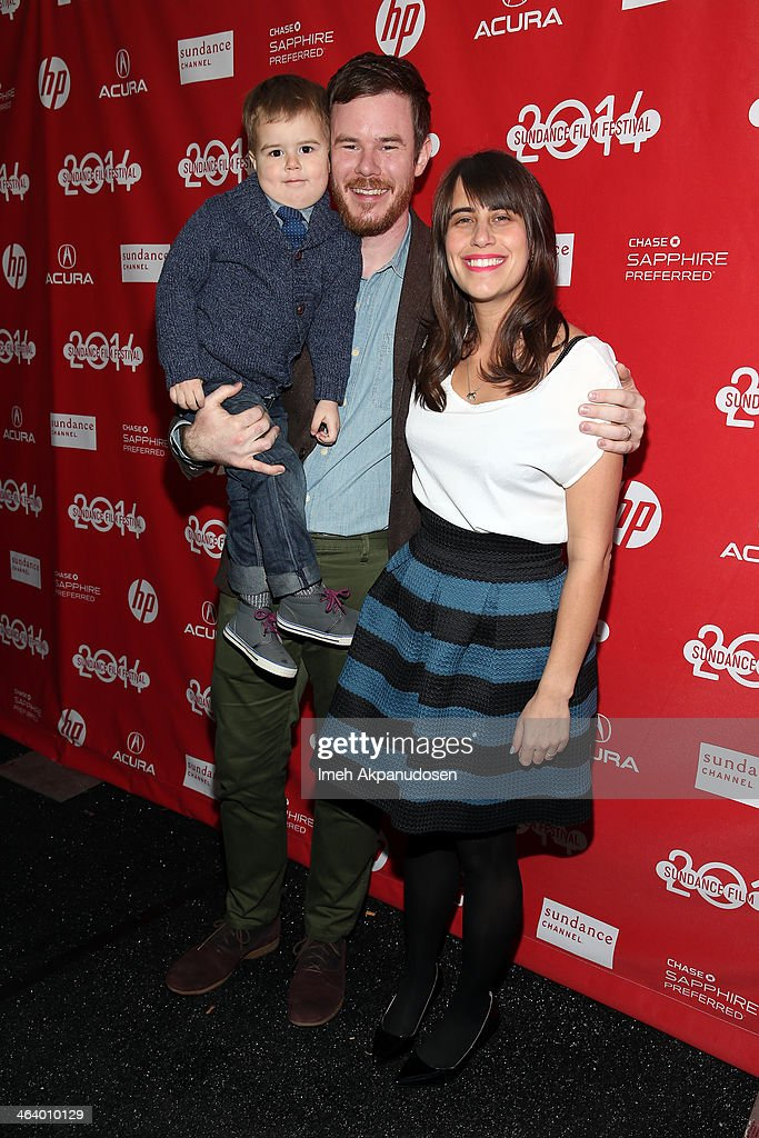 Filmmaker Joe Swanberg (C) attends the 'Happy Christmas' premiere at Library Center Theater during the 2014 Sundance Film Festival on January 19, 2014 in Park City, Utah.