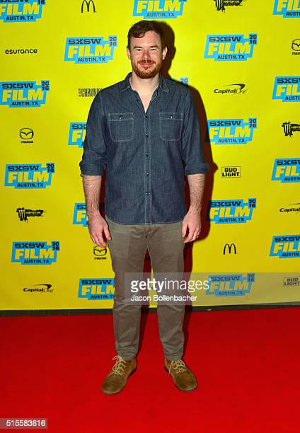 Filmmaker Joe Swanberg attends the Joe Swanberg Keynote during the 2016 SXSW Music Film Interactive Festival at Vimeo on March 14 2016 in Austin Texas