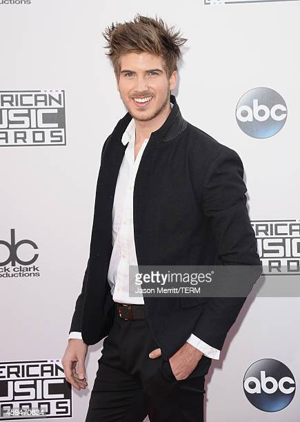 Filmmaker Joey Graceffa attends the 2014 American Music Awards at Nokia Theatre LA Live on November 23 2014 in Los Angeles California