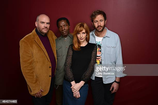 Filmmaker John Michael McDonagh actors Isaach De Bankole Kelly Reilly and Chris O'Dowd pose for a portrait during the 2014 Sundance Film Festival at...