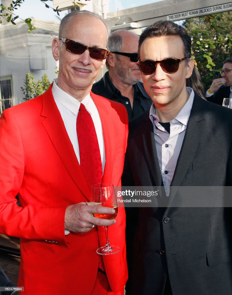 Filmmaker <a gi-track='captionPersonalityLinkClicked' href=/galleries/search?phrase=John+Waters+-+Director&family=editorial&specificpeople=209202 ng-click='$event.stopPropagation()'>John Waters</a> (L) and actor <a gi-track='captionPersonalityLinkClicked' href=/galleries/search?phrase=Fred+Armisen&family=editorial&specificpeople=221426 ng-click='$event.stopPropagation()'>Fred Armisen</a> attend the 2013 Film Independent Spirit Awards after party at The Bungalow at The Fairmont Hotel on February 23, 2013 in Santa Monica, California.