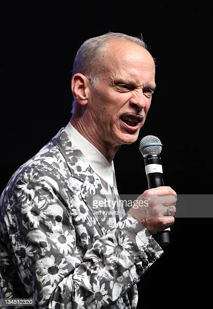 Filmmaker John Waters speaks on stage during Bonnaroo 2011 at The Comedy Theatre on June 12 2011 in Manchester Tennessee