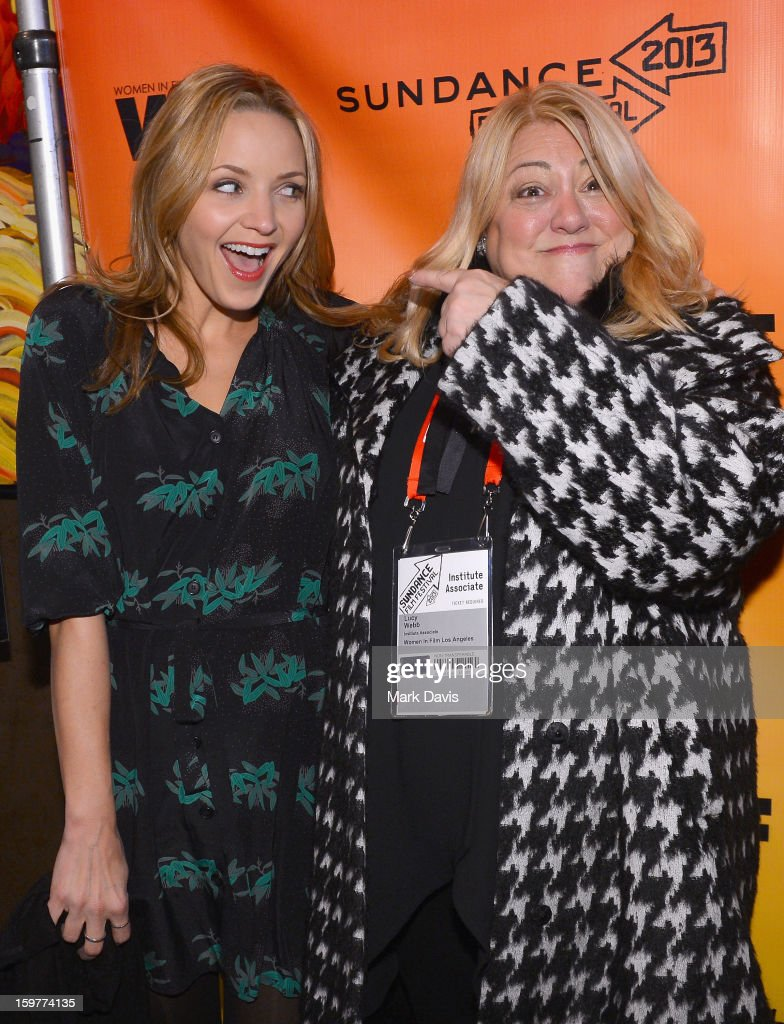 Filmmaker Jordana Spiro and moderator Lucy Webb attend the Women In Film's Sundance Filmmakers Panel presented by Skywalker Sound on January 20, 2013 in Park City, Utah.