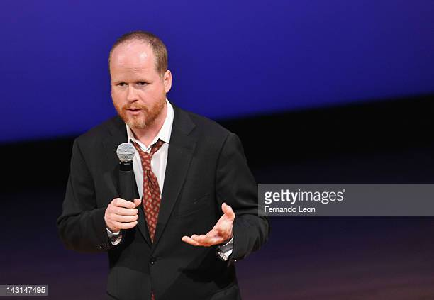 Filmmaker Joss Whedon pictured onstage during the Equality Now 20th Anniversary Fundraiser Event at Asia Society on April 19 2012 in New York City