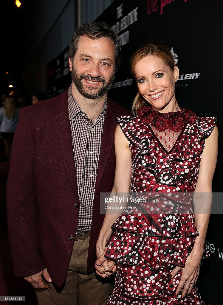 Filmmaker Judd Apatow and actress Leslie J. Mann arrive at Elyse Walker presents the 8th annual Pink Party hosted by Michelle Pfeiffer to benefit Cedars-Sinai Women's Cancer Program held at