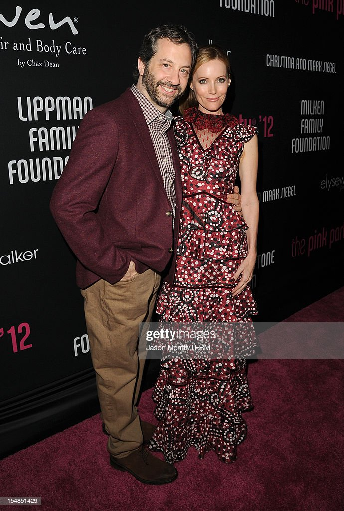 Filmmaker <a gi-track='captionPersonalityLinkClicked' href=/galleries/search?phrase=Judd+Apatow&family=editorial&specificpeople=854225 ng-click='$event.stopPropagation()'>Judd Apatow</a> (L) and actress Leslie Mann arrive at Elyse Walker presents the 8th annual Pink Party hosted by Michelle Pfeiffer to benefit Cedars-Sinai Women's Cancer Program held at