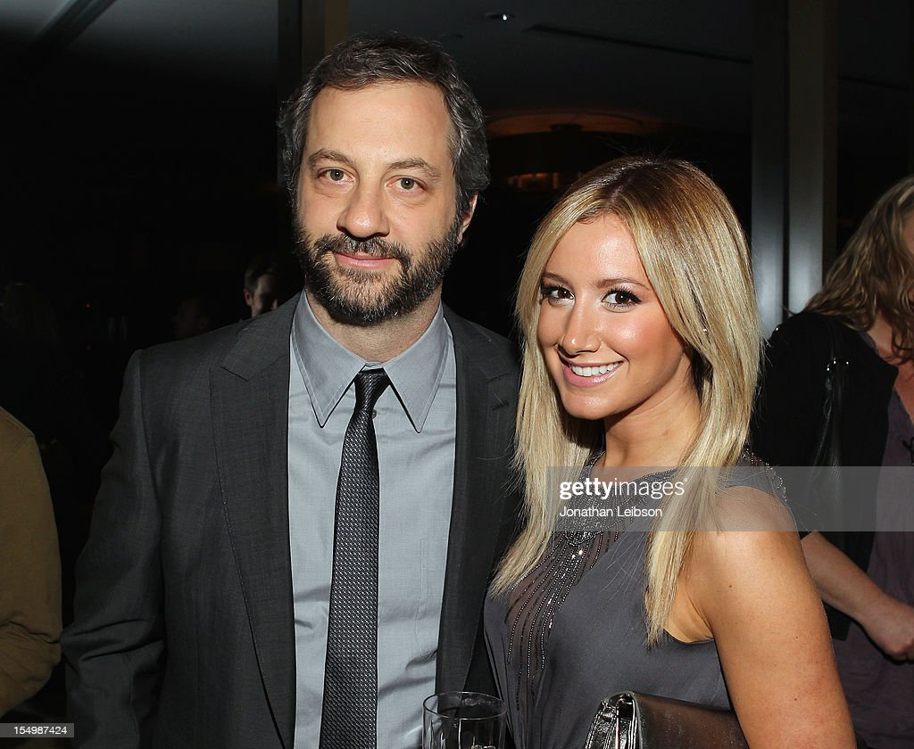 Filmmaker <a gi-track='captionPersonalityLinkClicked' href=/galleries/search?phrase=Judd+Apatow&family=editorial&specificpeople=854225 ng-click='$event.stopPropagation()'>Judd Apatow</a> and actress/singer <a gi-track='captionPersonalityLinkClicked' href=/galleries/search?phrase=Ashley+Tisdale&family=editorial&specificpeople=213972 ng-click='$event.stopPropagation()'>Ashley Tisdale</a> attend Variety's Hollywood's New Leaders presented by Ciroc Vodka at Soho House on October 29, 2012 in West Hollywood, California.
