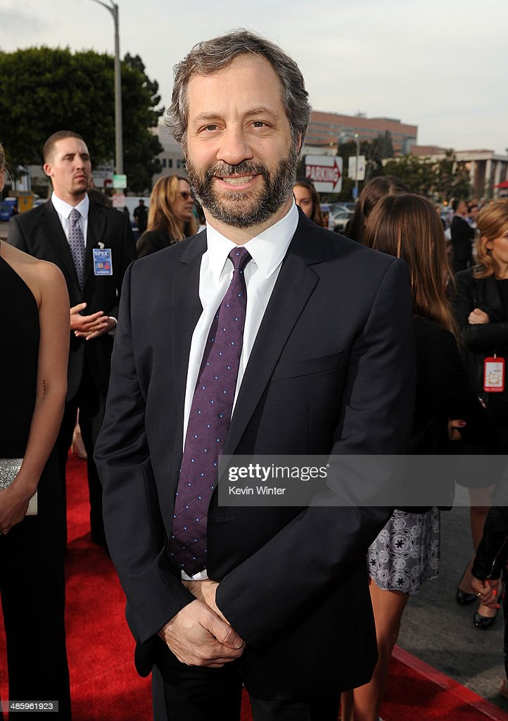Filmmaker <a gi-track='captionPersonalityLinkClicked' href=/galleries/search?phrase=Judd+Apatow&family=editorial&specificpeople=854225 ng-click='$event.stopPropagation()'>Judd Apatow</a> attends the premiere of Twentieth Century Fox's 'The Other Woman' at Regency Village Theatre on April 21, 2014 in Westwood, California.