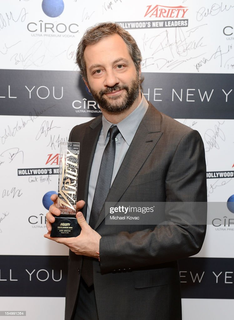 Filmmaker <a gi-track='captionPersonalityLinkClicked' href=/galleries/search?phrase=Judd+Apatow&family=editorial&specificpeople=854225 ng-click='$event.stopPropagation()'>Judd Apatow</a> attends Variety's Hollywood's New Leaders presented by Ciroc Vodka at Soho House on October 29, 2012 in West Hollywood, California.